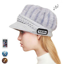 2017 New Ubit Bluetooth Music Wool Hat Wireless Hands free Headphone Mic Knit Lint