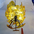 Modern indoor decorative amber color glass flower ceiling hanging pendant lighting