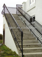 2015 Top-selling modern outdoor wrought iron stair railing