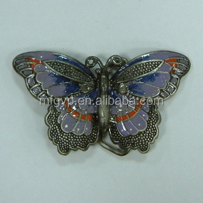 Hot selling products butterfly plain metal belt buckle