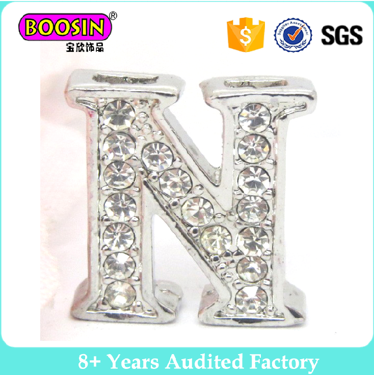 Unique Fashion Alloy Enamel letter crystal pendant jewelry charm Wholesale