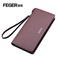 FEGER Wholesale Leather Gift for Men Large Men Wallet Coin Hand Purse