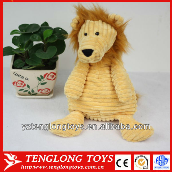 New design sute and customized lion shaped corduroy toys for children