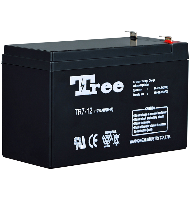 TREE solar storage flooded lead acid 12v 7ah ups battery