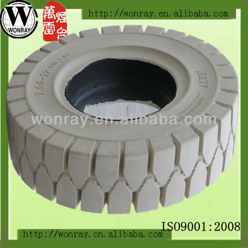 hot sale 23x10-12 white non marking solid forklift tires, colorful solid bicycle tires