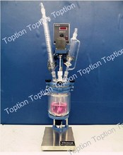jacketed chemical pressure extraction glass reactor 2L