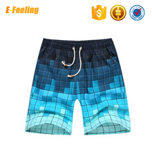 Men's Breathable Qiuck Drying Plaid Board Shorts Waterproof Swim Trunks Wholesale