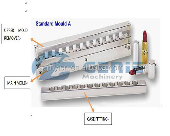 JM-008 12 Cavity Cosmetic Lipstick Molds