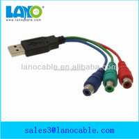 Double insulated mini usb to female rca video out cable