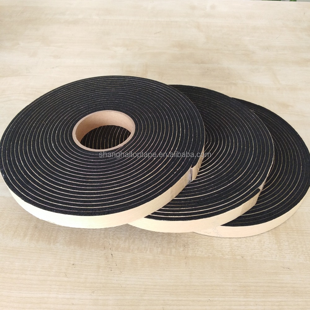 "Black Easy To Use NBR Foam Insulation Tape 1/8"" x 2"" x 30' Roll Chemically Expanded Foam"