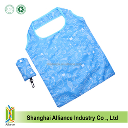 Eco Tote Promotional Reusable Supermarket Polyester Foldable Shopping Bag