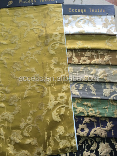 cotton polyester lurex jacquard fabric for curtain