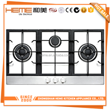 Luxury 3 burners Enamel pan support home trends gas stove (PG9032S-CCI)