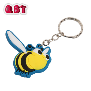Wholesale 2D / 3D Custom Shaped Key Chain PVC Keychain With Your Logo