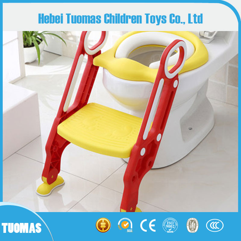 Wholesale kids potty with ladder child potty chair Baby toilet trainer toddler ladder