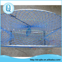 Custom durable metal frame round blue aquaculture net trap for shrimp