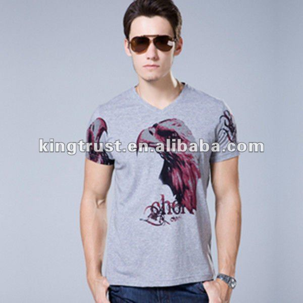 men's tshirt with eagle printing wholesale plus size