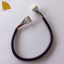sample free 6 pin male and female connector wiring harness for sweeping robot cable assembly power cord