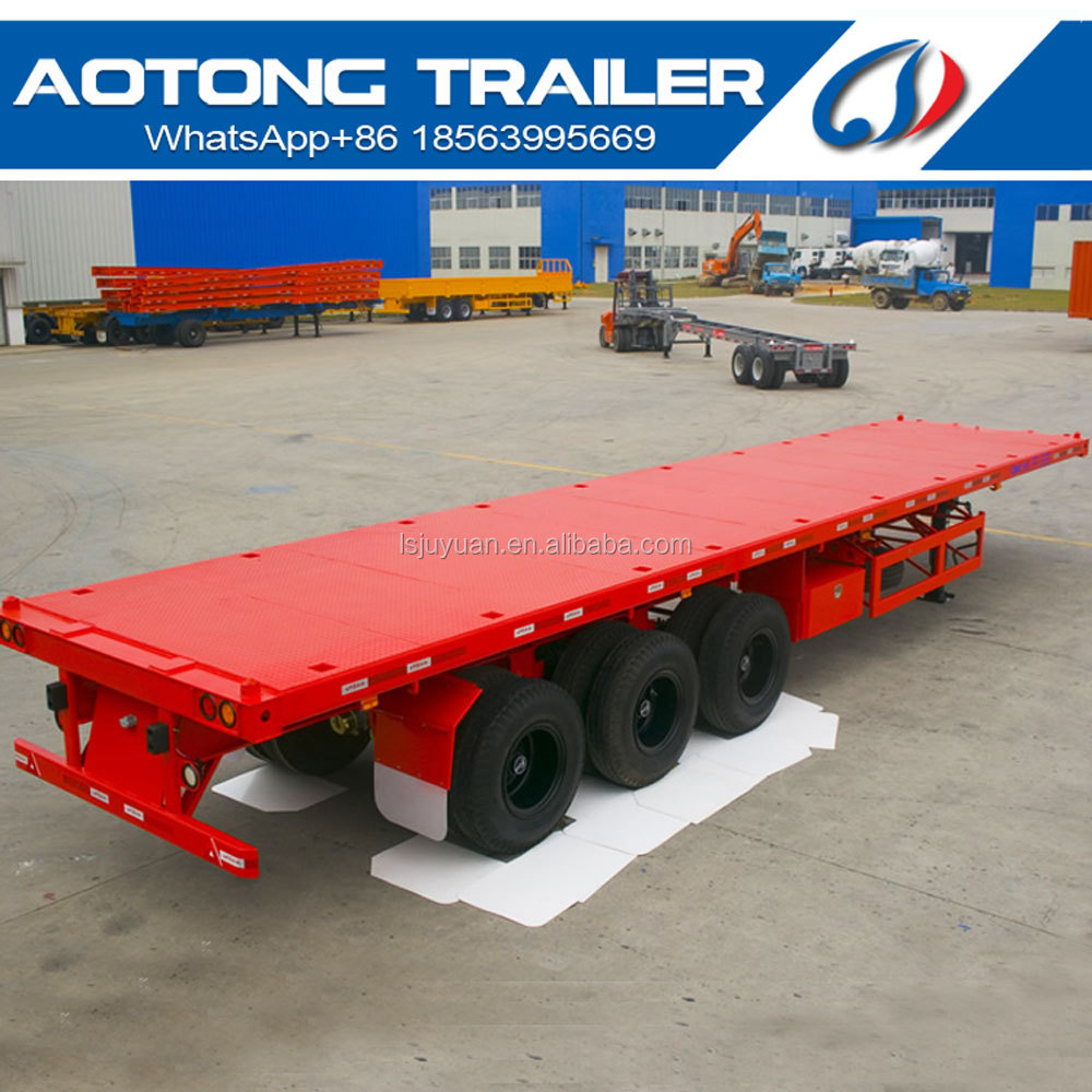 China factory price gooseneck 40ft flatbed car trailer for sale