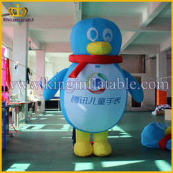 Promotional Moving Cartoon Inflatable Penguin Custome ,Inflatable Moving Cartoon Advertising