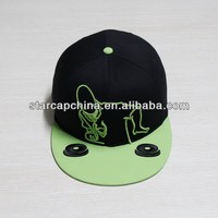 CUSTOM FLAT BRIM EMBROIDERY SNAPBACK HAT AND CHEAP 5 PANEL SNAPBACK HATS