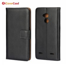 Factory Wholesale Mobile Phone Pouch Bag Flip Cover Genuine Leather Wallet Phone Cases for ZTE Blade V7 Lite Coque Funda