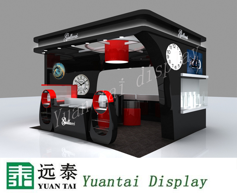 new design watch store display showcases and kiosk
