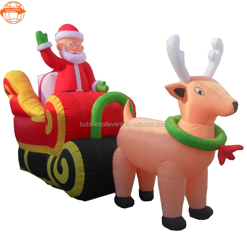 Advertising funny gift inflatable Christmas car model with deer for decoration