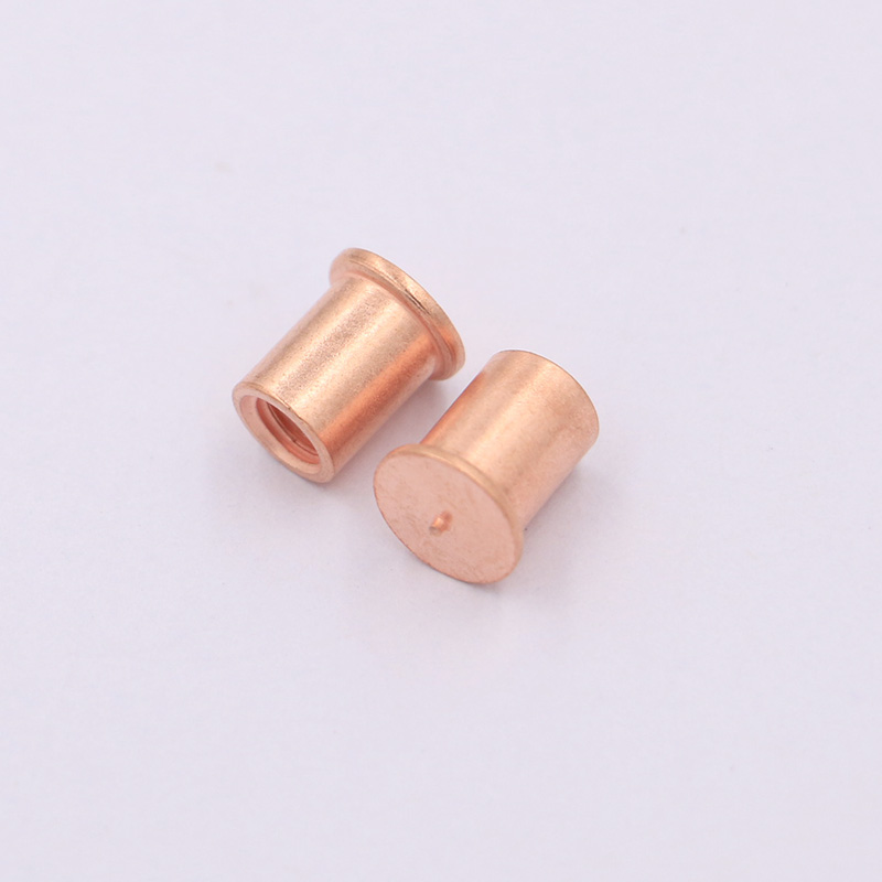 Chinese manufacturing Alloy Copper Threaded Round Head spot <strong>welding</strong> stud screw used for mechanical industry