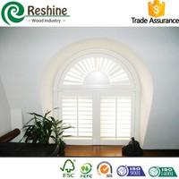 Primed Plantation PVC Arch Window Shutter