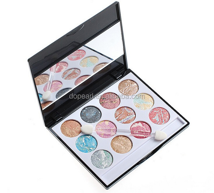 12 Color pottery makeup multi colored eyeshadow palette