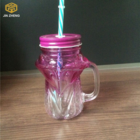 Smart Beverage Cups glass mason jar Juice Beverage Container