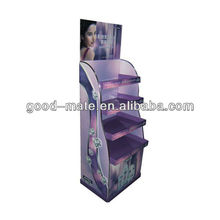 Advertising Beauty Products Display Racks / Standing Floor Display Shelf