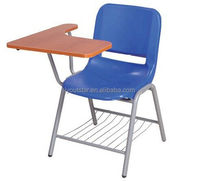 KD Used School Furniture Student Steel Single Seat with Writing Board and Armrest Training Chair
