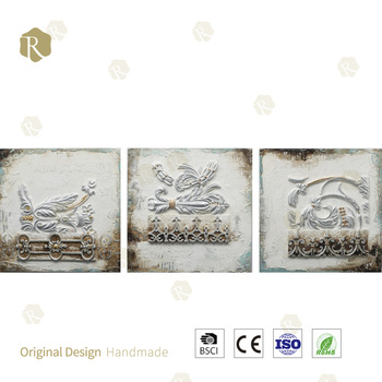 3d Resin Relief Hand Painted Khana Kaaba Oil Painting High Quality Khana Kaaba Oil Painting