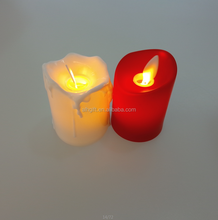 Electronic battery operated moving wick flameless led candle