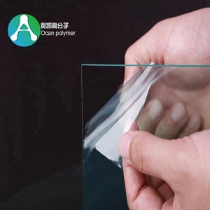 Thin Clear rigid Transparent Color Plastic PVC sheet with PE film