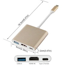 Type C hub with HDMI USB 3.0 PD charging