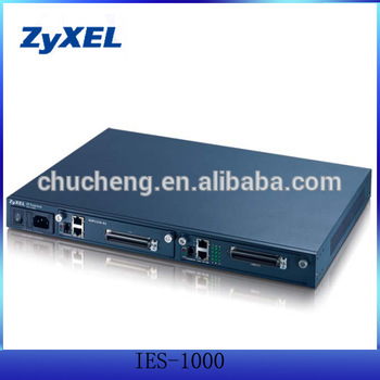 ZyXEL IES-1000 mini ip dslam with 2 card slots chassis
