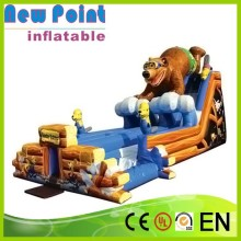 New Point wholesale children outdoor play inflatable water slide clearance