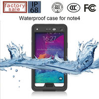 Protector Cover IP68 Waterproof Case for Samsung Galaxy Note4, For Samsung Note4 Waterproof Shockproof Case