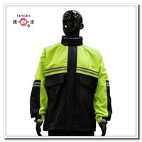 factory price OEM high visibility motorcycle raincoat with pants