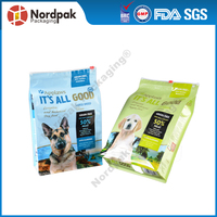Color printing box pouch/flat bottom pouch,Custom pet food packaging bag