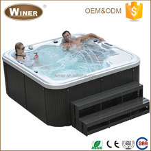 5 person indoor outdoor freestanding mini whirlpool hydro hot tub home sex massage hot chinese spa