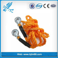 Recovery rope/tow strap with hooks/tow strap