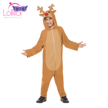 New design customized kids dress up mascot costumes kids reindeer outfit