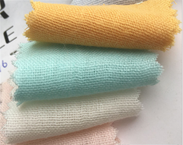 manufactory supply organic cotton double fabric for baby washed gauze diaper