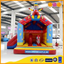 Small kindergarten play structure/mini inflatable bouncers with slide