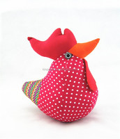 Colorful Cotton Fabric Decorative Rooster