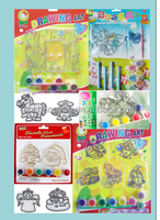 Suncatcher crafts set, non toxic plastic sheet games,